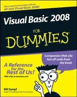 Sempf, Bill - Visual Basic 2008 For Dummies, ebook
