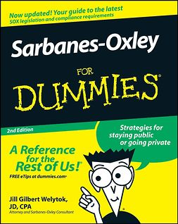 Welytok, Jill Gilbert - Sarbanes-Oxley For Dummies, ebook