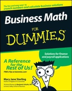 Sterling, Mary Jane - Business Math For Dummies, ebook