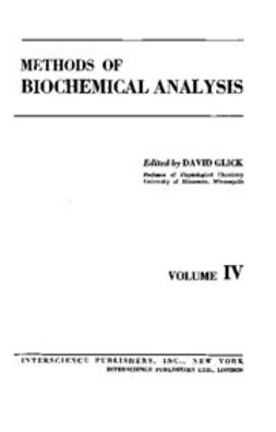 Glick, David - Methods of Biochemical Analysis, e-kirja