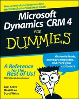Lee, David - Microsoft Dynamics CRM 4 For Dummies, ebook