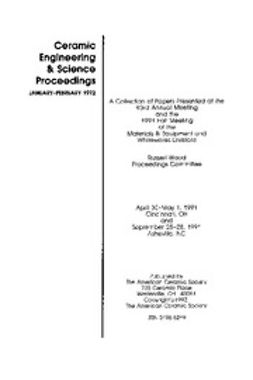- Materials & Equipment/Whitewares: Ceramic Engineering and Science Proceedings, Volume 13, Issue 1/2, ebook