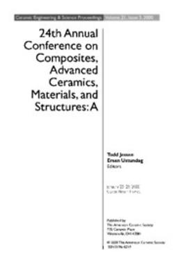 - 24th Annual Conference on Composites, Advanced Ceramics, Materials, and Structures: A: Ceramic Engineering and Science Proceedings, Volume 21, Issue 3, e-kirja