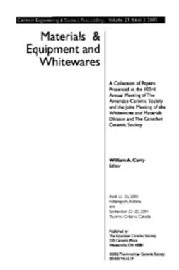 - Materials & Equipment/Whitewares: Ceramic Engineering and Science Proceedings, Volume 23, Issue 2, ebook