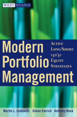 Bova, Anthony - Modern Portfolio Management: Active Long/Short 130/30 Equity Strategies, ebook