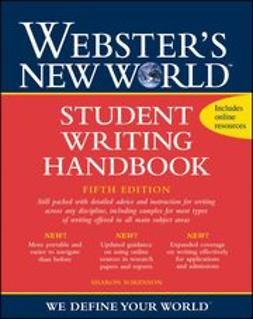 Sorenson, Sharon - Webster's New World Student Writing Handbook, e-bok