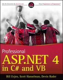 Evjen, Bill - Professional ASP.NET 4 in C# and VB, ebook