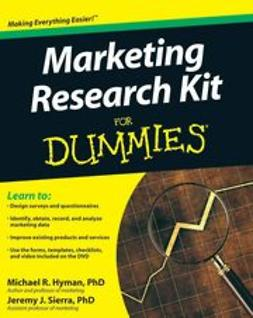 Hyman, Michael - Marketing Research Kit For Dummies, ebook