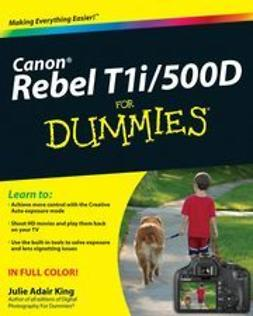 King, Julie Adair - Canon EOS Rebel T1i/500D For Dummies, ebook