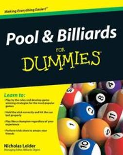 Leider, Nicholas - Pool and Billiards For Dummies<sup>&#174;</sup>, e-kirja