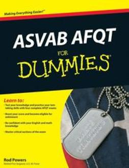 UNKNOWN - ASVAB AFQT For Dummies<sup>®</sup>, ebook