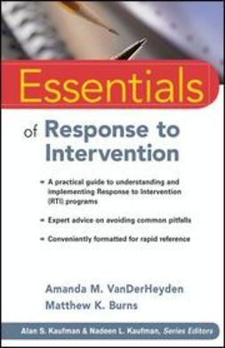 VanDerHeyden, Amanda M. - Essentials of Response to Intervention, ebook
