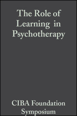 - The Role of Learning  in Psychotherapy, ebook