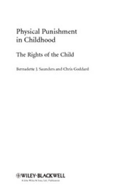 Saunders, Bernadette J. - Physical Punishment in Childhood: The Rights of the Child, ebook