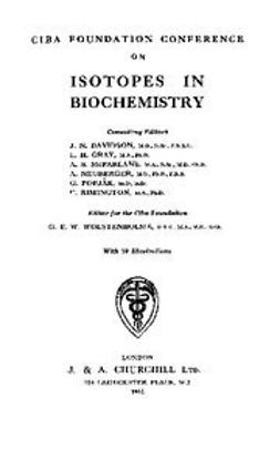 UNKNOWN - Istopes in Biochemistry, ebook
