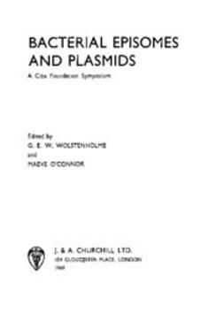 UNKNOWN - Bacterial Episomes and Plasmids, ebook