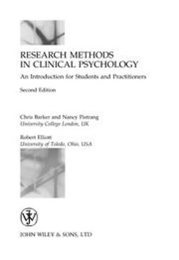 Barker, Chris - Research Methods in Clinical Psychology: An Introduction for Students and Practitioners, e-bok