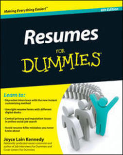 Kennedy, Joyce Lain - Resumes For Dummies, ebook