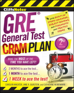 Wheater, Carolyn - CliffsNotes GRE General Test Cram Plan, ebook