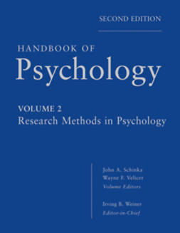 Schinka, John A. - Handbook of Psychology, Research Methods in Psychology, ebook
