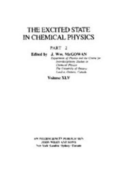 McGowan, J. William - Advances in Chemical Physics, Excited State in Chemical Physics, ebook