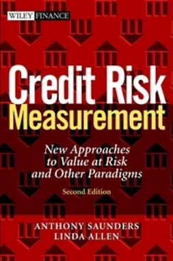 Allen, Linda - Credit Risk Measurement: New Approaches to Value at Risk and Other Paradigms, ebook