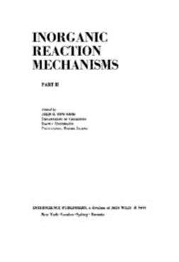 Edwards, John O. - Progress in Inorganic Chemistry, Inorganic Reaction Mechanism, ebook