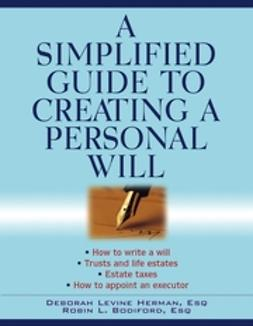 Bodiford, Robin L. - A Simplified Guide to Creating a Personal Will, ebook