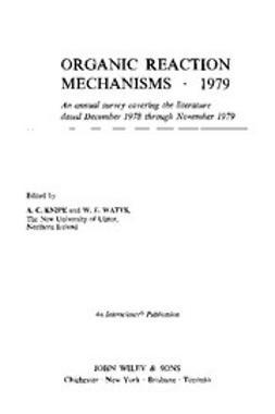 Knipe, Chris - Organic Reaction Mechanisms, 1979: (Including Index 1975-1975), e-kirja