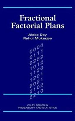 Dey, Aloke - Fractional Factorial Plans, ebook