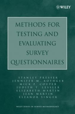 Couper, Mick P. - Methods for Testing and Evaluating Survey Questionnaires, ebook