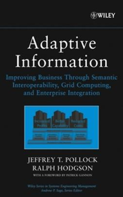 Pollock, Jeffrey T. - Adaptive Information: Improving Business Through Semantic Interoperability, Grid Computing, and Enterprise Integration, e-kirja