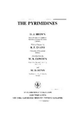 Brown, Desmond J. - The Chemistry of Heterocyclic Compounds, The Pyrimidines, e-kirja