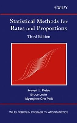Fleiss, Joseph L. - Statistical Methods for Rates and Proportions, e-bok