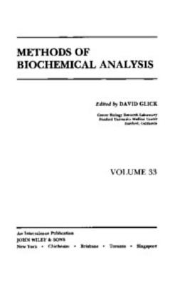 Glick, David - Methods of Biochemical Analysis, e-bok