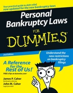 Caher, James P. - Personal Bankruptcy Laws For Dummies, ebook