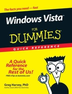 Harvey, Greg - Windows Vista For Dummies Quick Reference, ebook