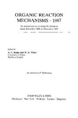 Knipe, Chris - Organic Reaction Mechanisms, 1987, ebook