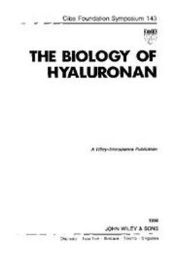 UNKNOWN - The Biology of Hyaluronan, ebook