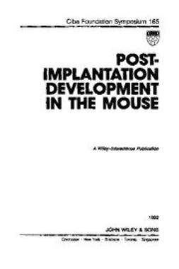UNKNOWN - Postimplantation Development in the Mouse, ebook