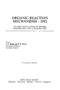 Knipe, Chris - Organic Reaction Mechanisms, 1992, e-bok