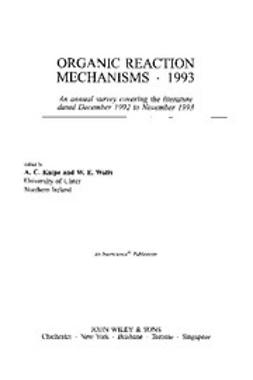 Knipe, Chris - Organic Reaction Mechanisms, 1993, e-kirja