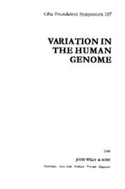 UNKNOWN - Variation in the Human Genome, ebook