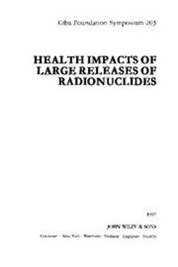 UNKNOWN - Health Impacts of Large Releases of Radionuclides, ebook