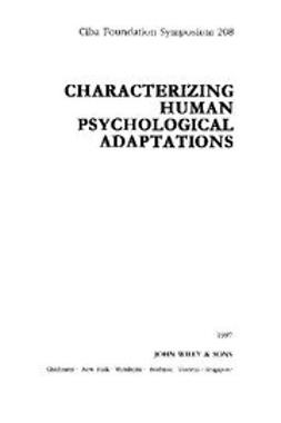 UNKNOWN - Characterizing Human Psychological Adaptations, ebook