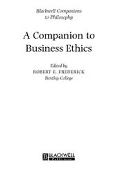 Fredrick, Robert - A Companion to Business Ethics, ebook