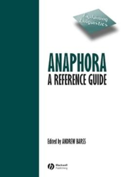 Barss, Andrew - Anaphora: A Reference Guide, ebook