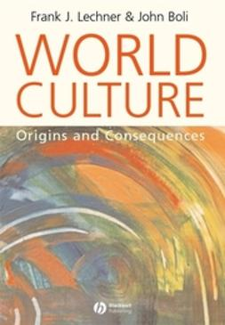 Boli, John - World Culture: Origins and Consequences, ebook