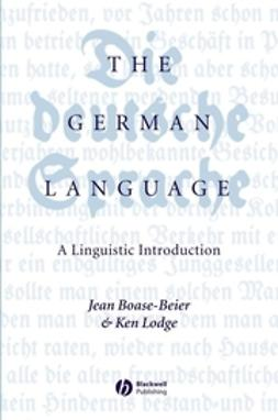 Boase-Beier, Jean - The German Language: A Linguistic Introduction, ebook