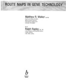 Walker, Mark - Route Maps in Gene Technology, ebook